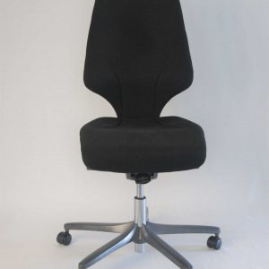 Front view of the Giroflex G64 upcycled desk chair.