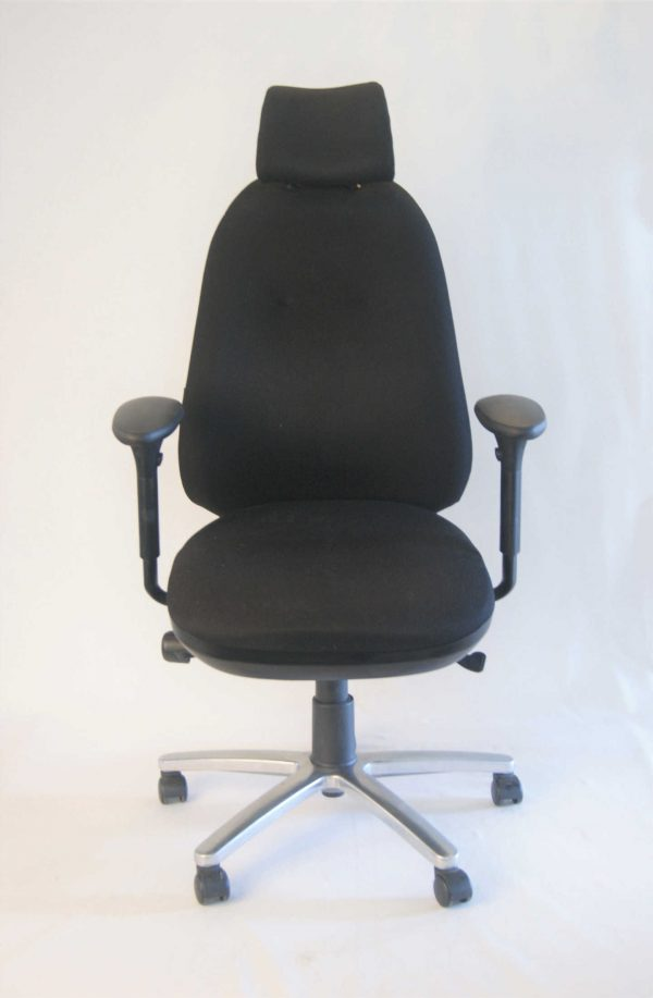 Front view of the Therapod upcycled desk chair