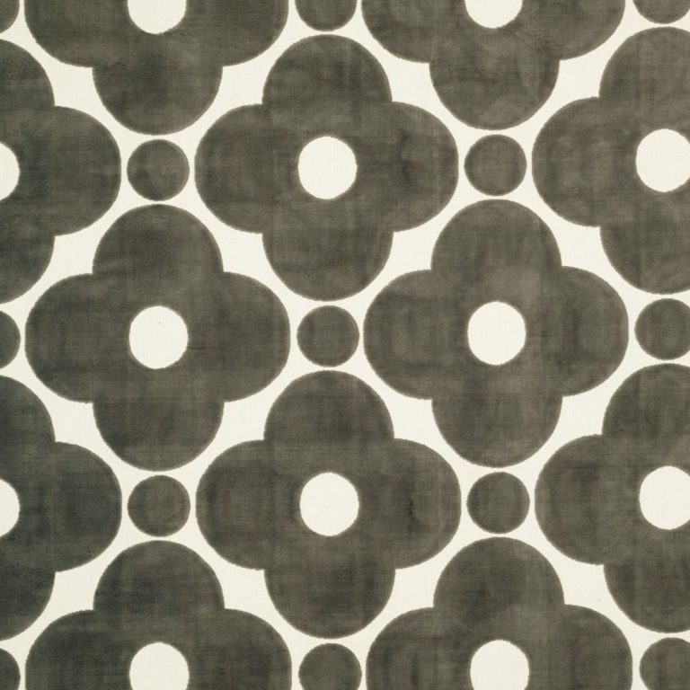 Velvet Spot Flower Dark Warm Grey