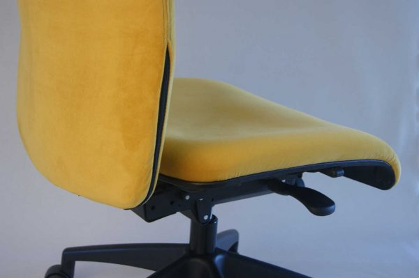 upcycled office chair in luxury velvet